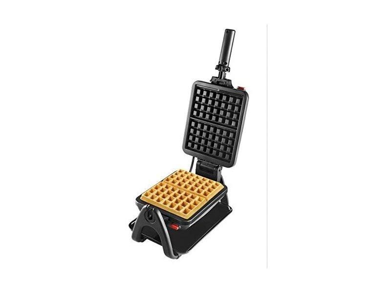 Gaufrier électrique semi-professionnel 1200w noir inox