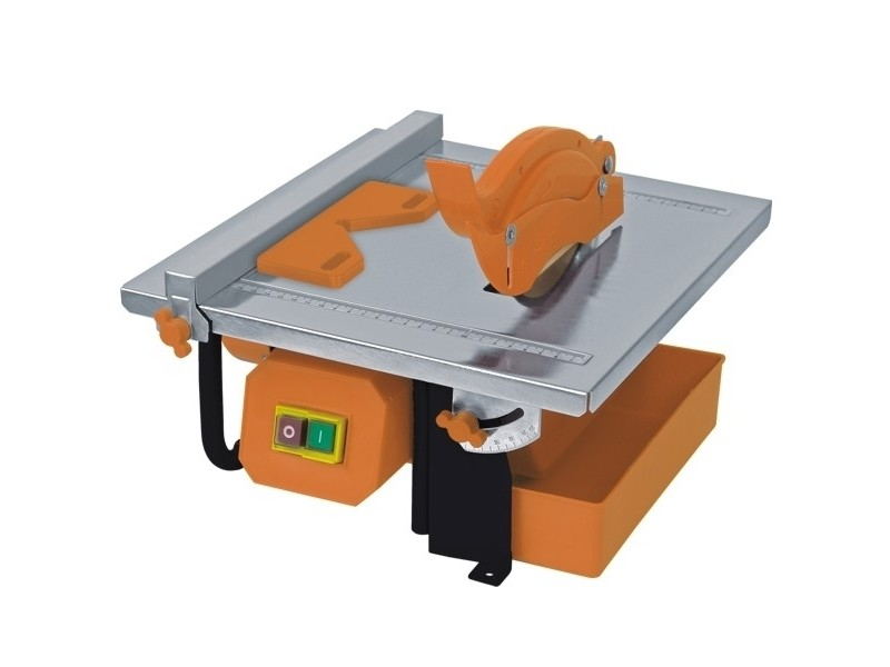 Dtools   scie de carrelage   puissance 450 w   diamètre du disque 180 mm   scie à carreaux   orange