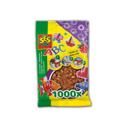 Sachet de 1000 perles technique à repasser : brun