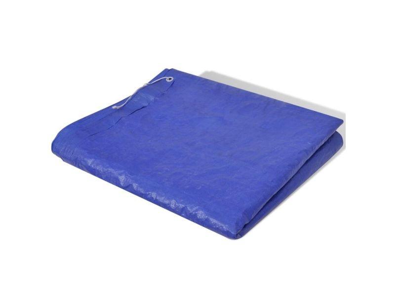 Distingué accessoires pour piscines et spas collection ankara bâche piscine en pe rectangulaire 400 x 207 cm 90 g/mètre carré