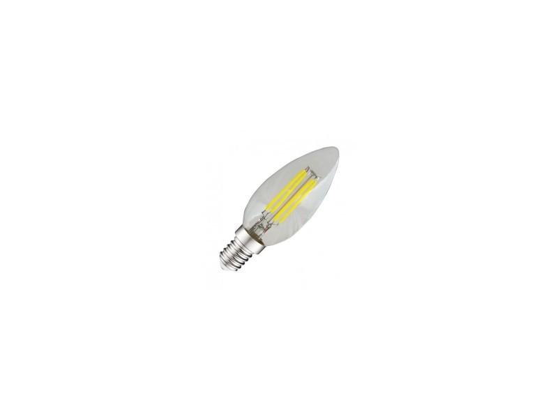 Ampoule led blanc froid e14 filament flamme 4w (35w) 6000°k EL-7130