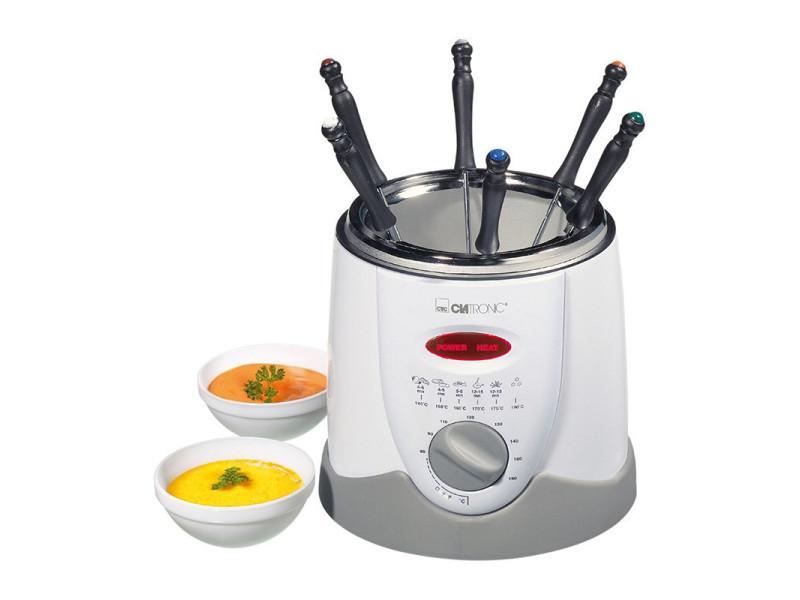 Friteuse et fondue clatronic ffr 2916 (blanc)