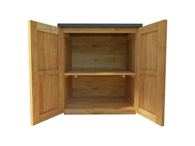 meuble salle de bain en teck massif et granit 90 cm badalona vente de wildwater conforama. Black Bedroom Furniture Sets. Home Design Ideas