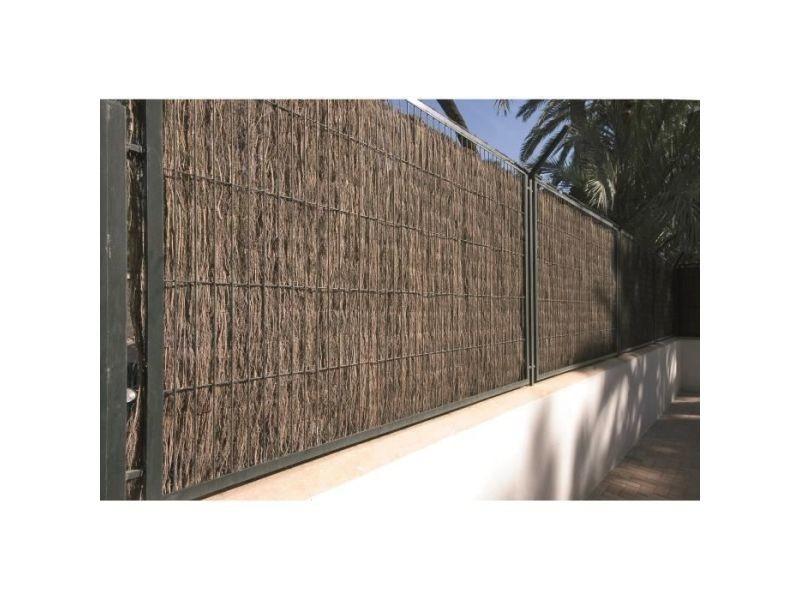 Haie de jardin clôture naturelle en brande 1,5 cm - 1 x 5m
