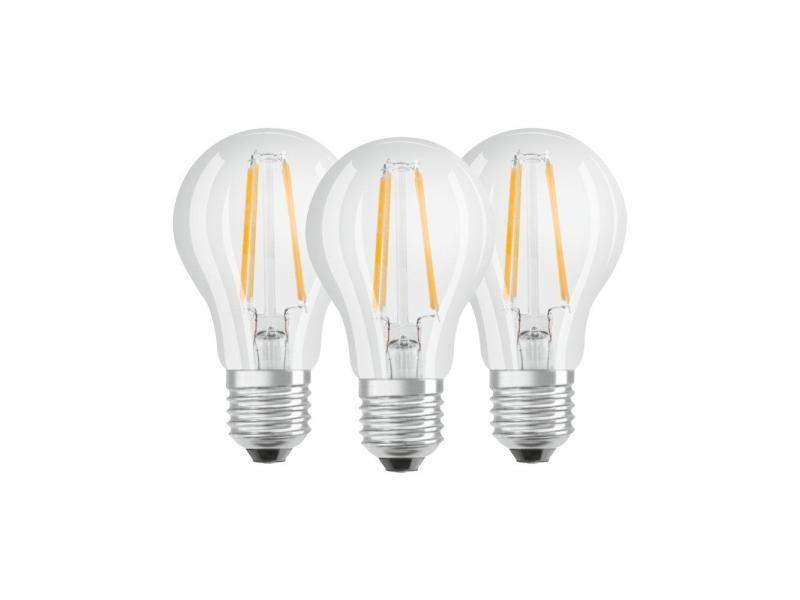 Osram - lot de 3 ampoules led filament standard - culot e27 - equivalent 7 w 60