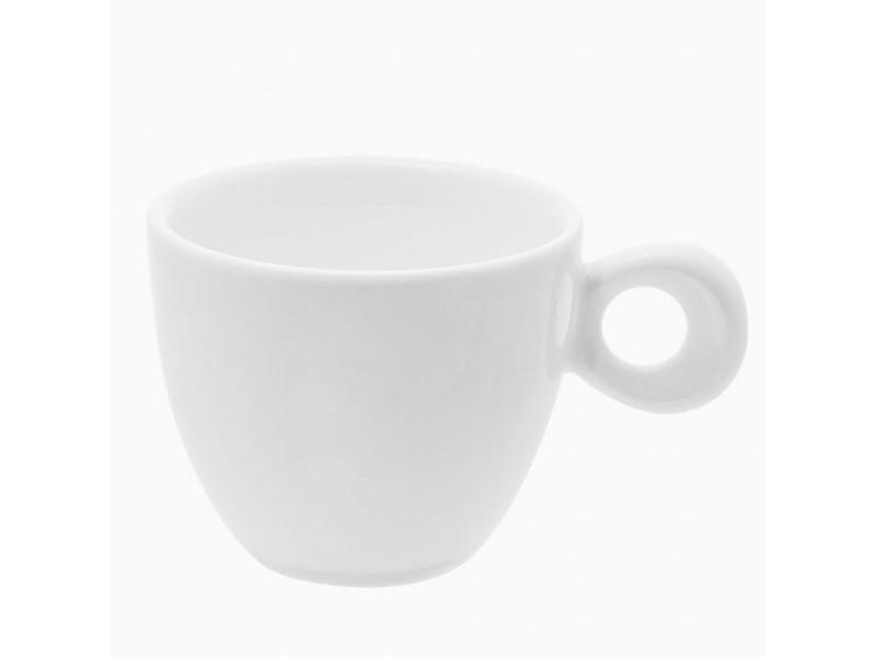 Tasses à café en porcelaine blanche x 6