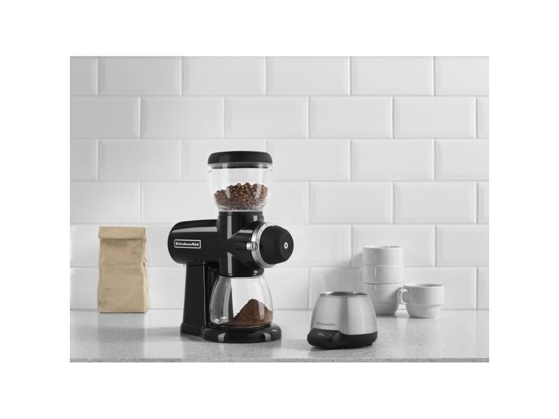 Broyeur à café avec 15 niveaux de finesse noir onyx