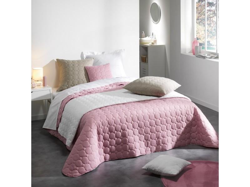Couverture couvre lit 220 x 240 cm matelasse candy rose vente de plaid et couverture conforama - Couvre lit conforama ...