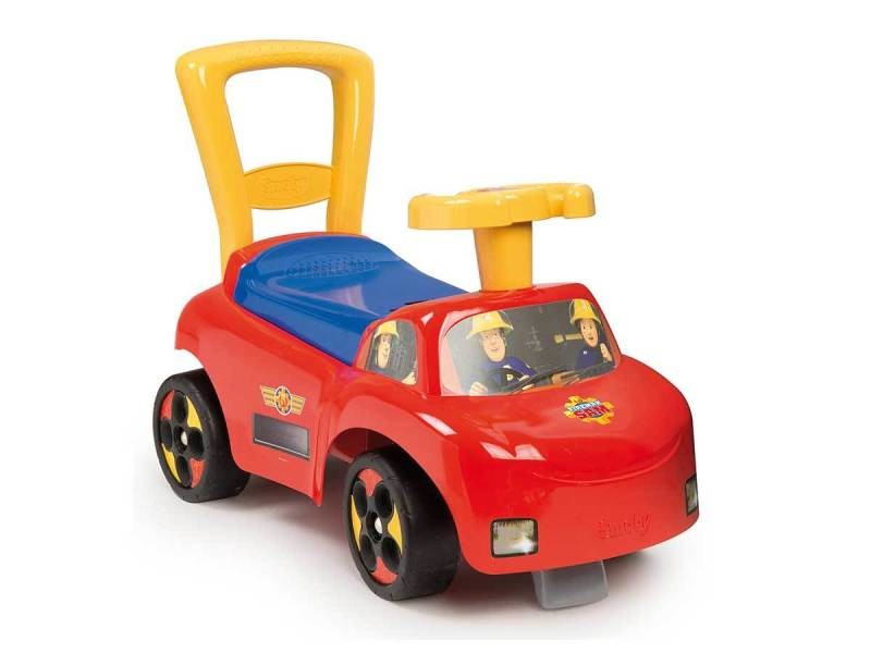 Porteur bébé smoby auto sam le pompier vente de smoby conforama