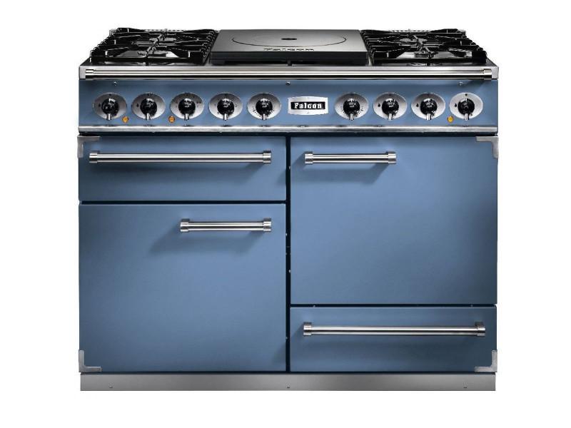 Cuisiniere 110cm falcon fct1092dfca 5gaz 3 fours bleu de chine ...