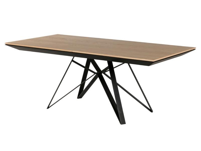 Table en bois extensible bois/métal - spider