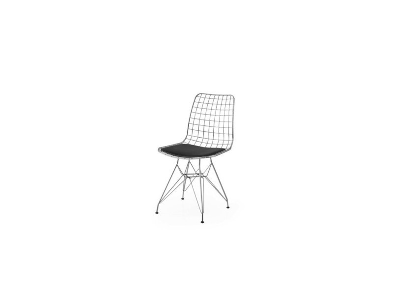Chaise metal style industriel PM 2030 ARGENTE
