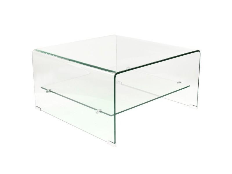 Table bent basse en verre trempé 12mm