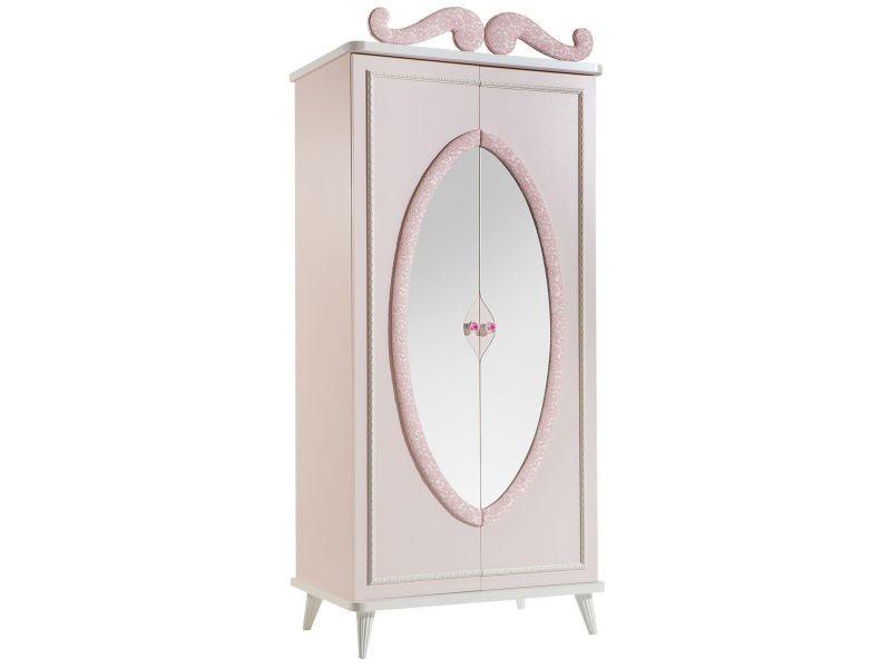 Armoire pour enfant à 2 portes coloris rose clair - Vente de ...