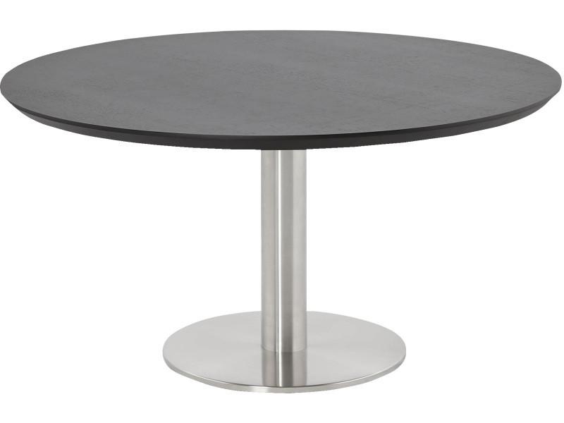 Table basse ronde coloris noir - 90 x 180 x 75 cm -pegane-