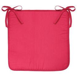 Galette de chaise microfibres - 39 x 39 cm - rose
