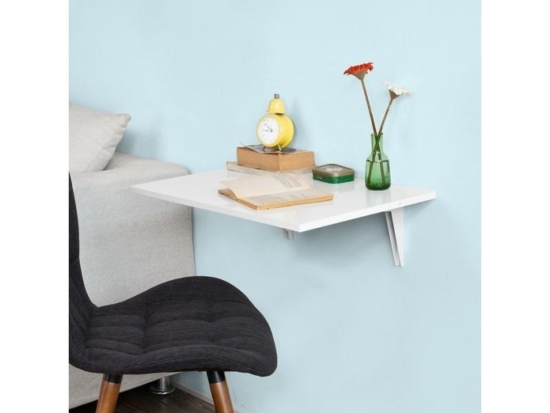 Table murale rabattable en bois table de cuisine table enfant l60 p40cm blanc fwt21 w sobuy - Table rabattable de cuisine ...