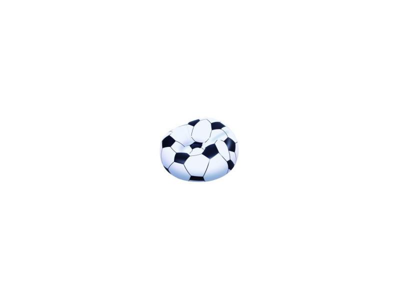 Fauteuil gonflable de football - 114 x 112 x 66 cm - blanc