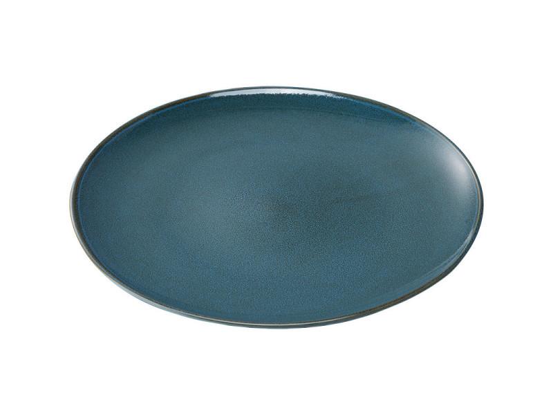 Assiette plate porcelaine bleue ø 260 mm - stalgast - 26 cm porcelaine