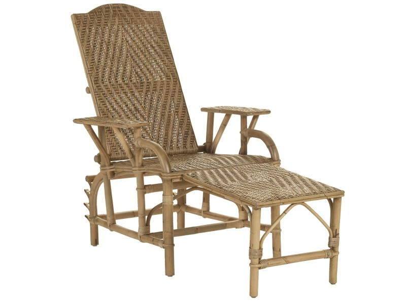 Chaise longue en rotin grand m re vente de kok maison - Chaise rotin conforama ...