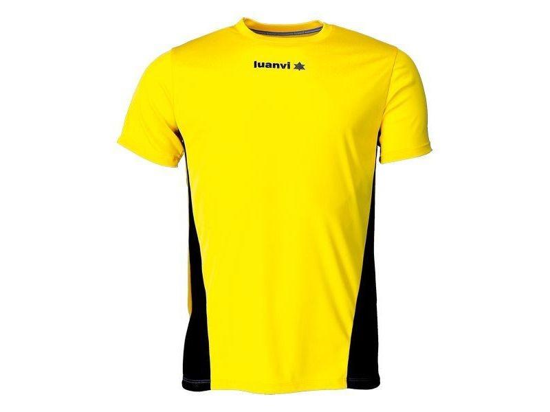T-shirt de sport stylé taille xxs t shirt à manches courtes luanvi race jaune
