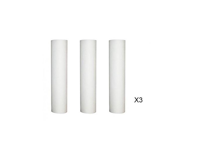Lot de 3 recharges anti-sédiment 10 microns pour porte filtre 9-3/4 -10 pouces
