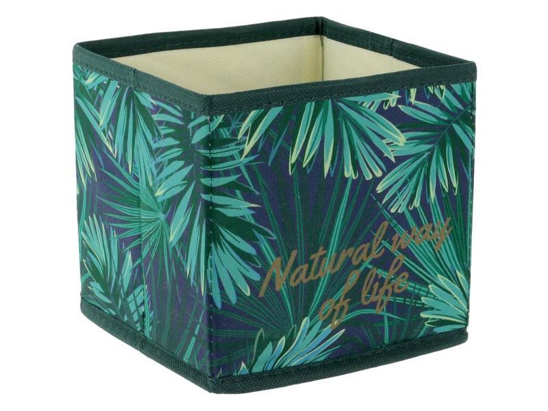 en soldes cf0fc ef360 Cube panier boite de rangement pliable déco tropique natural ...