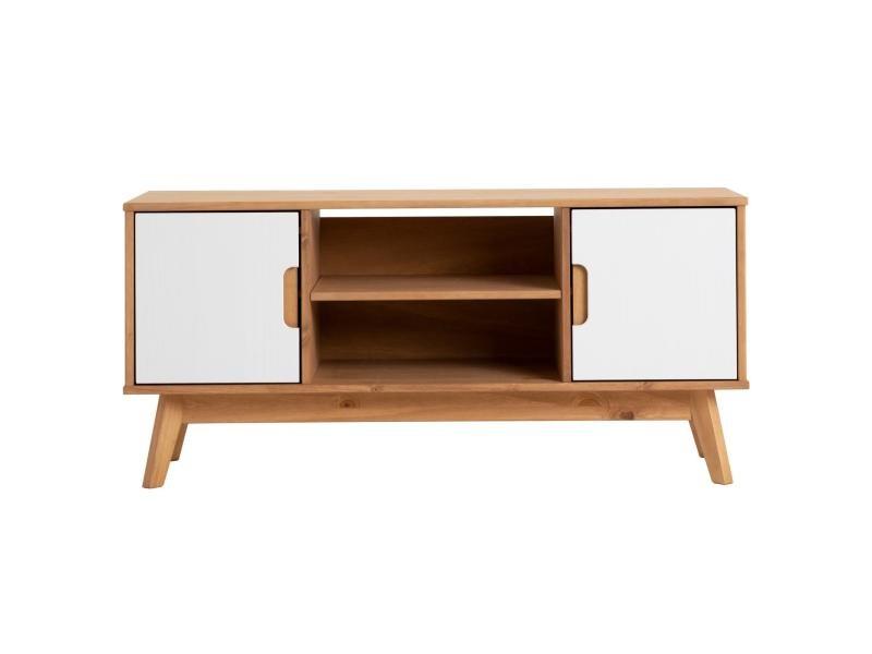 Meuble Tv Tivoli Banc Télé De 114 Cm Style Scandinave Design Vintage