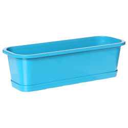 Jardinière ansania - l. 50 cm. - bleu