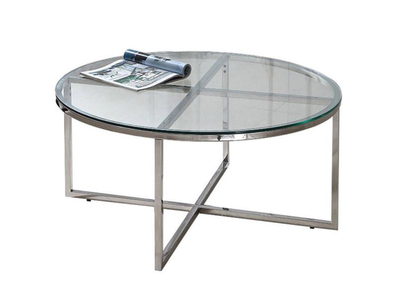 Table basse ronde jazzy transparent vente de table - Table basse ronde conforama ...