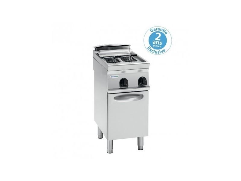 Friteuse électrique sur coffre - 2 x 8 litres - commandes mécaniques - gamme 700 - tecnoinox -