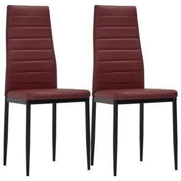 Vidaxl chaises de salle à manger 2 pcs rouge bordeaux