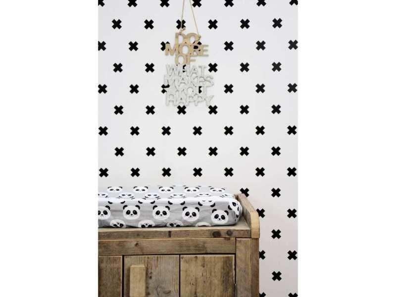 Fabulous world papier peint cross blanc et noir 67104-6 422682