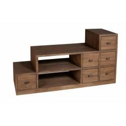 meuble tv marron conforama. Black Bedroom Furniture Sets. Home Design Ideas