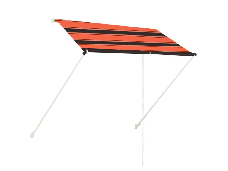 Vidaxl auvent rétractable 200x150 cm orange et marron 145895