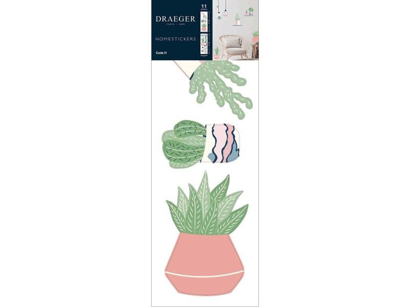 Sticker mural plantes et ampoules déco
