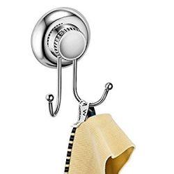 Maxhold système de vide ventouse à 2 crochets - adhérer, pas de perçage - acier inoxydable - pour salle de bains et cuisine