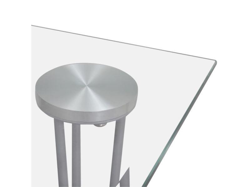 Vidaxl table de salle manger et dessus de table en verre - Conforama table de salle a manger en verre ...