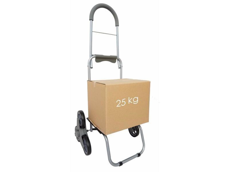 Chariot de courses monte-escalier 6 roues bo time - double