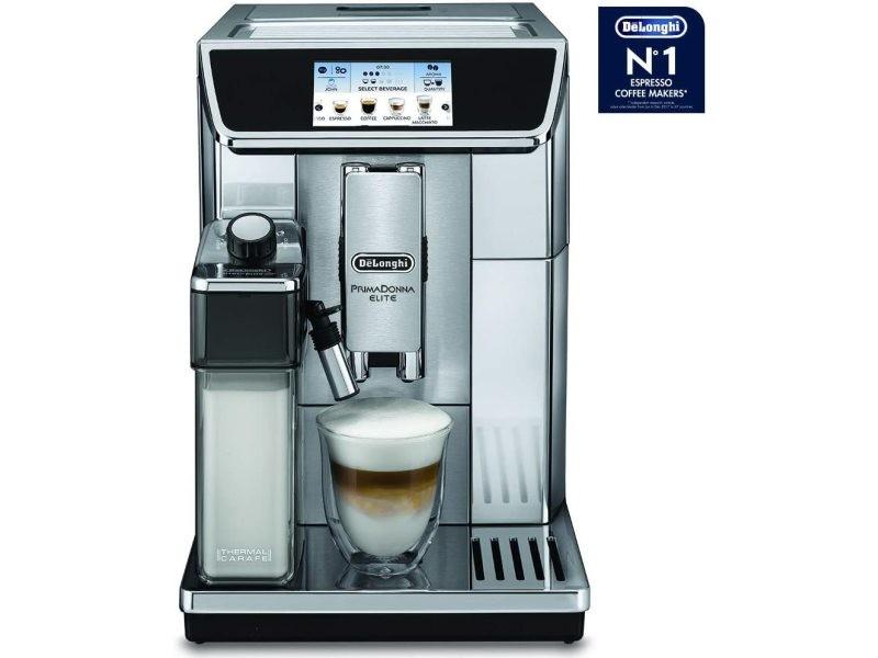 Machine à expresso de 2l avec écran tactile et connectée 1450w noir argent