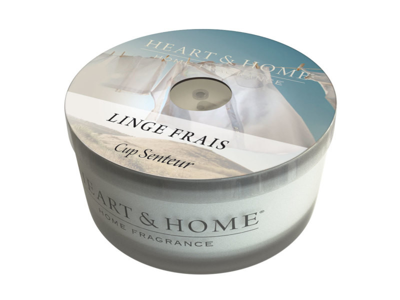 Bougies cups heart and home - linge frais