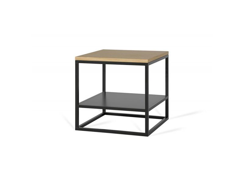 Table basse carrée industrielle 40 cm helisa / coloris : chêne