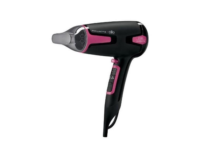 Sèche-cheveux 1700w noir, rose - soins du cheveux sechage rapide fonction air frais et fonction ionique