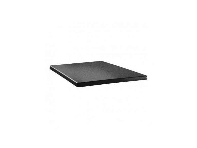 Plateau de table carré anthracite 700 mm - topalit - bois