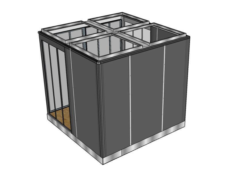 cube bureau vente de cube de jardin conforama. Black Bedroom Furniture Sets. Home Design Ideas