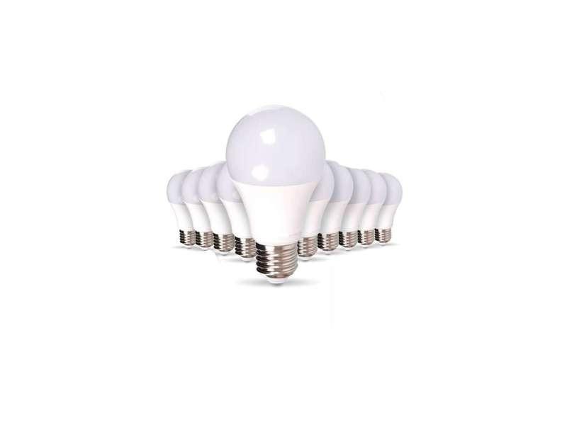 Lot de 50 ampoules e27 9w a60 équivalent 50w - blanc chaud 2700k 50XSP1717