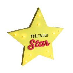 Déco lumineuse étoile hollywood star