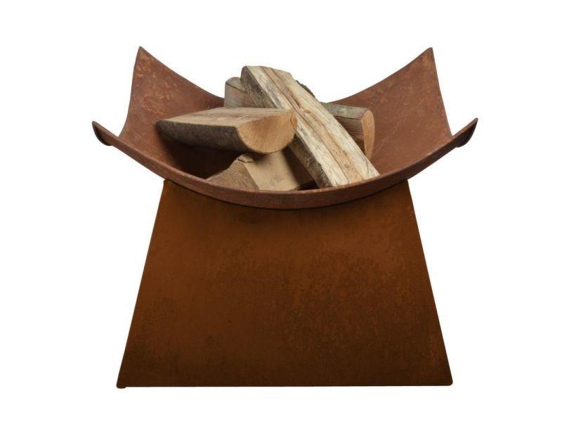 Vasque carrée aspect rouillé