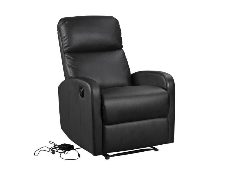 Fauteuil électrique inclinable relax noir