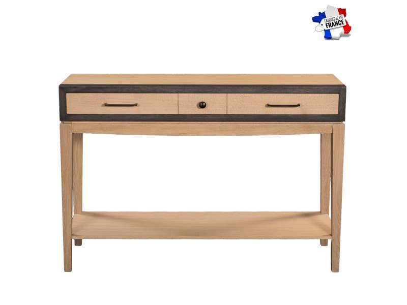 Console avec tiroir en chêne 120x35 cm, 100% fabrication française